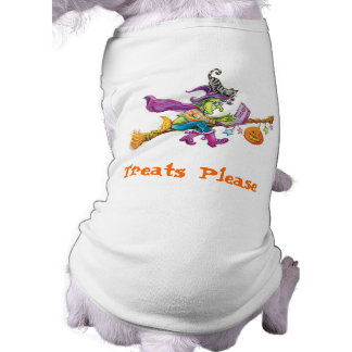 Halloween witch Dog t-shirt