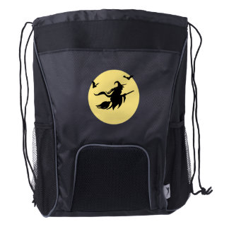 Halloween witch drawstring backpack