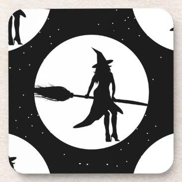 halloween witch drink coaster