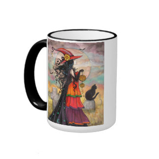 Halloween Witch Fantasy Art Mug