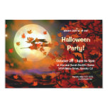 "Halloween Witch Flight 3.5"" X 5"" Invitation Card"