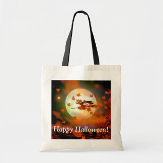 Halloween Witch Flight Budget Tote Bag