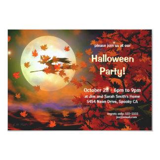 Halloween Witch Flight 3.5x5 Paper Invitation Card