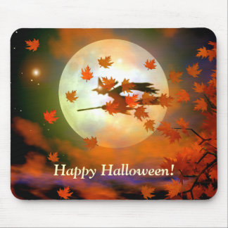 Halloween Witch Flight Mouse Pad