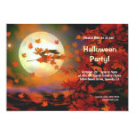 Halloween Witch Flight Personalized Invite