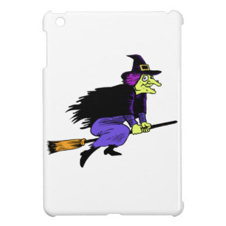 Halloween Witch Flying On A Broomstick iPad Mini Cases