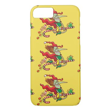 Halloween Themed Halloween witch flying on a Christmas candy cane iPhone 8/7 Case