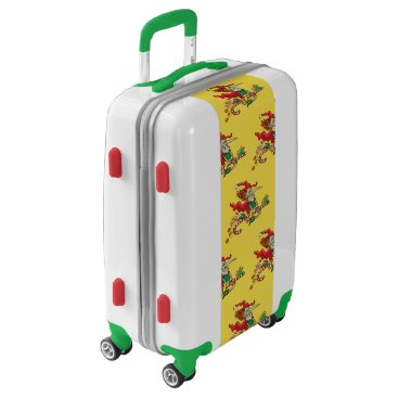 Halloween Themed Halloween witch flying on a Christmas candy cane Luggage