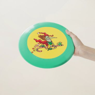Halloween Themed Halloween witch flying on a Christmas candy cane Wham-O Frisbee