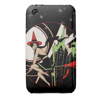 Halloween Witch Flying (vintage) Case-Mate iPhone 3 Case