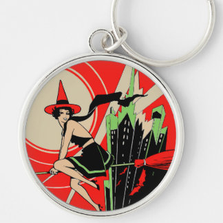 Halloween Witch Flying (vintage) Keychain