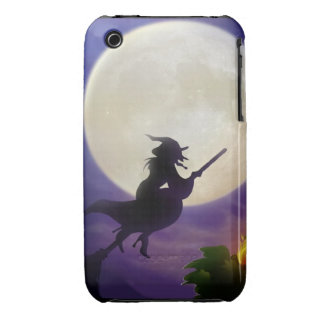 Halloween Witch Full Moon iPhone 3 Case-Mate Case