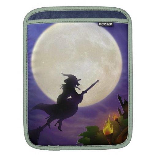 Halloween Witch Full Moon iPad Sleeves
