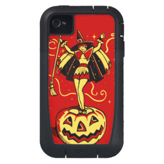 Halloween Witch Girl (vintage) iPhone4 Case