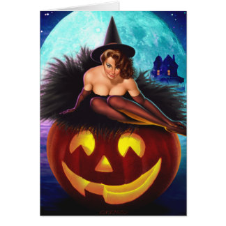 """""""Halloween Witch"""" Greeting Card"""