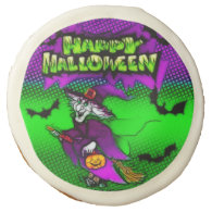 Halloween Witch Happy Halloween Sugar Cookie