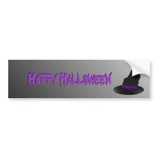 Halloween Witch Hat Bumper Sticker bumpersticker