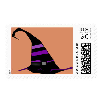 Halloween Witch Hat Postage