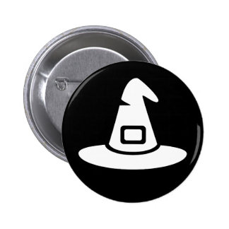 Halloween Witch Hat Symbol Ideology Pinback Button
