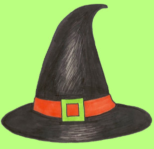 Halloween Witch Hat Trick or Treat Green Black Wham-O Frisbee 3881101765a9