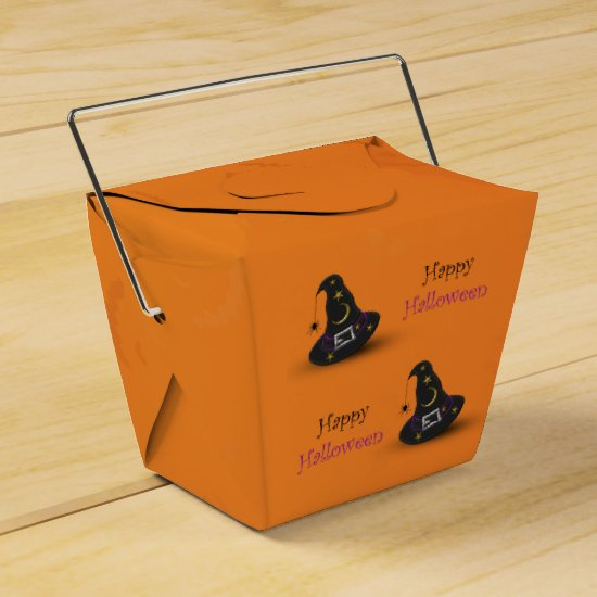 Halloween Witch Hat with Spider Favor Box Take Out