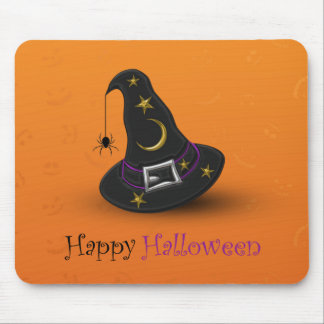 Halloween Witch Hat with Spider - Mousepad