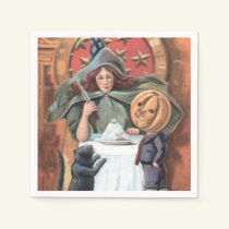 Halloween Witch Holiday paper napkins