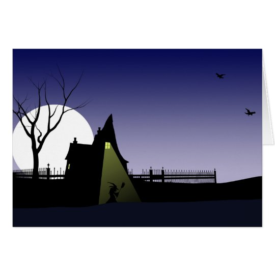 Halloween Witch House Card