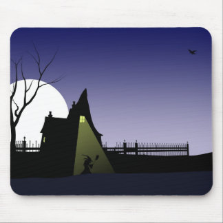 Halloween Witch House Mouse Pad