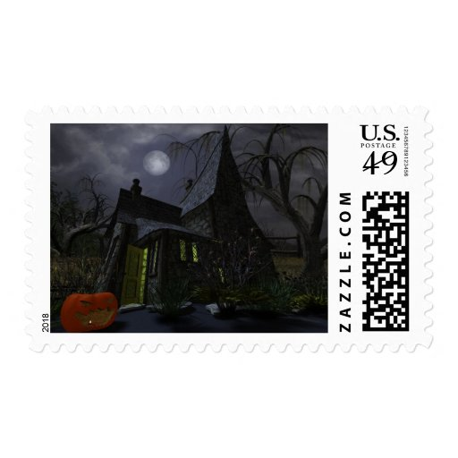 Halloween Witch House Stamp