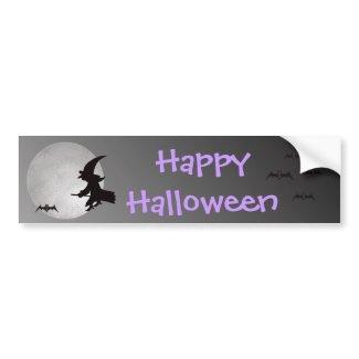 Halloween Witch in Flight bumpersticker