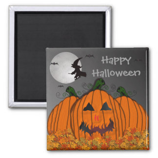 Halloween Witch in Flight Magnets