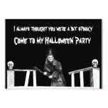 Halloween Witch In Hat - Party Invitation Card at Zazzle
