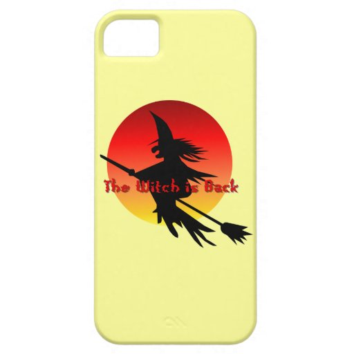 Halloween Witch is Back on Broomstick Full Moon iPhone 5 Covers