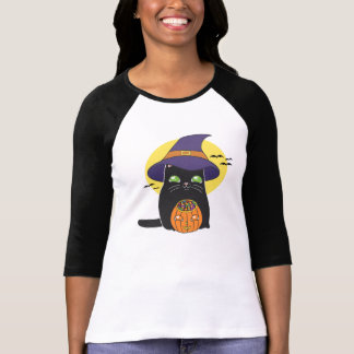 Halloween Witch Kitty Shirt