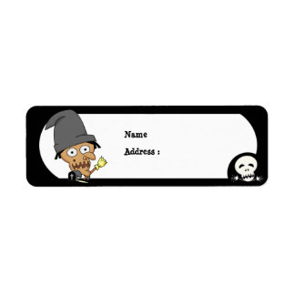 Halloween Witch Label