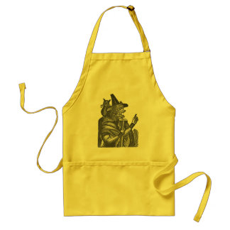 Halloween Witch Lithograph Adult Apron