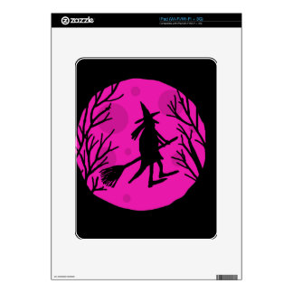 Halloween witch - magenta skins for iPad