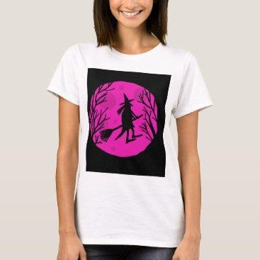 Halloween Themed Halloween witch - magenta T-Shirt