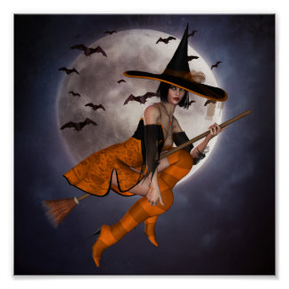 Halloween Witch Mini Poster