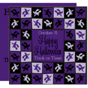Halloween Witch mosaic Invitation