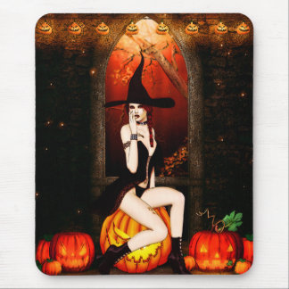 Halloween Witch Mouse Pad