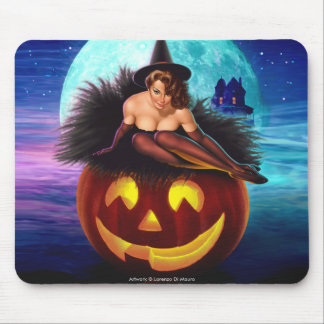"""Halloween Witch"" Mouse Pad"