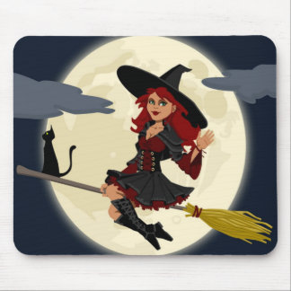 HALLOWEEN WITCH MOUSEPAD