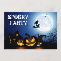 Halloween witch on a broom enclosure card