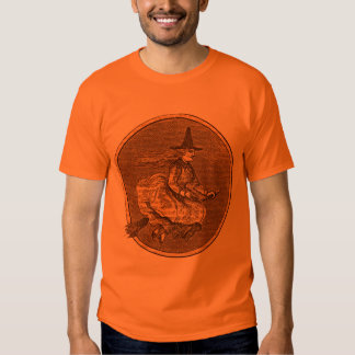 Halloween Witch on a Broom T-shirts