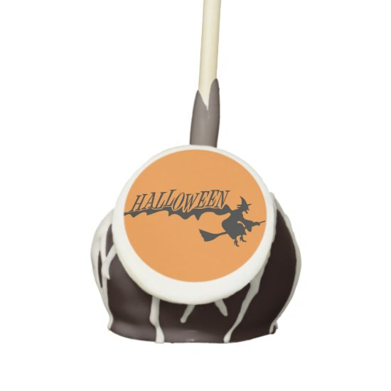 Halloween Witch on Orange Cake-Pop Cake Pops