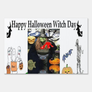 Halloween Witch Outdoor Yard Sign Decoration
