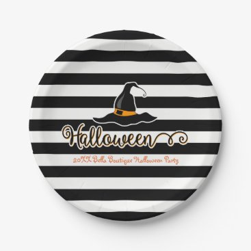 Professional Business Halloween Witch Paper Plate