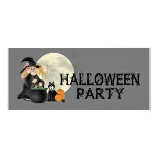 Halloween Witch Party Custom Invites